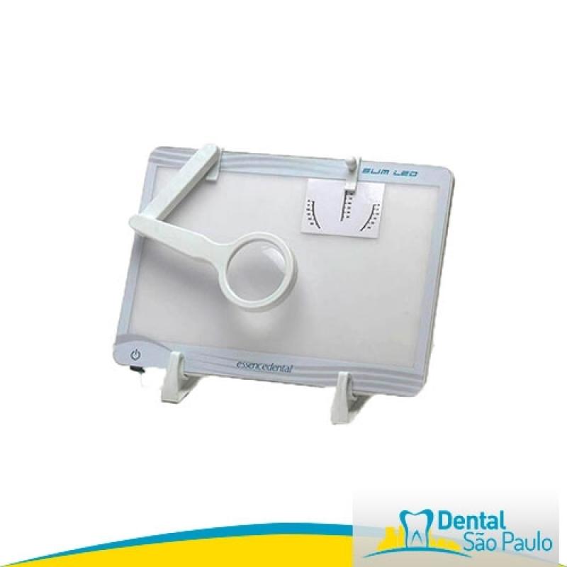 Negatoscopio Odontológico Slim Led Branco Barato Mairiporã - Negatoscopio Odontológico Slim Led Essence