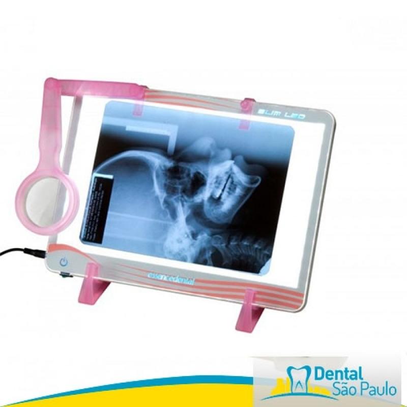 Negatoscopio Odontológico Slim Led de Parede Litoral Paulista - Negatoscopio Odontológico Slim Led Rosa