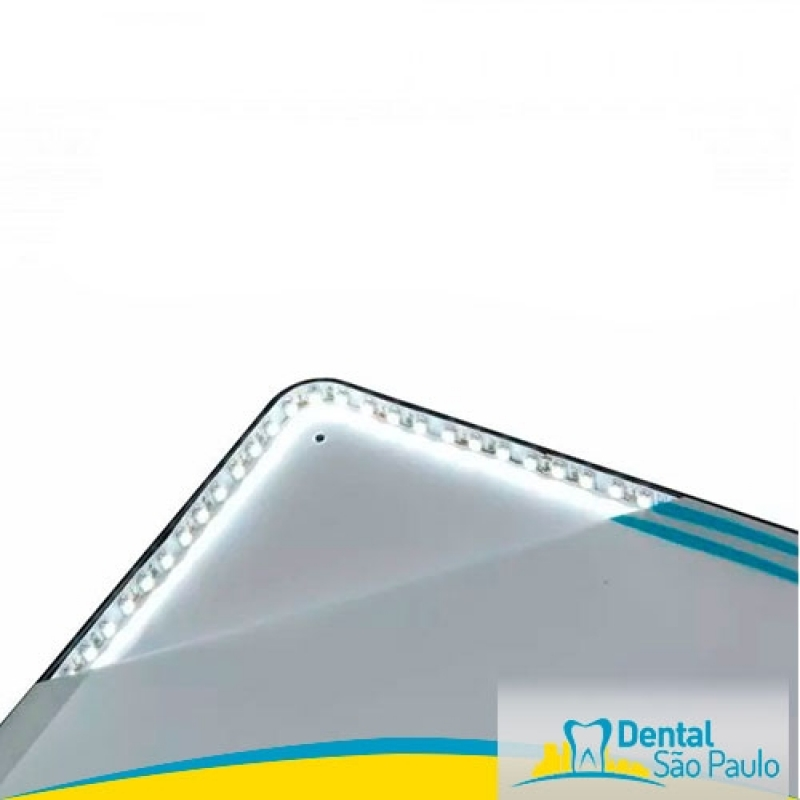 Negatoscopio Slim Odontológico Valor Paulínia - Negatoscopio Odontológico Slim Led Azul