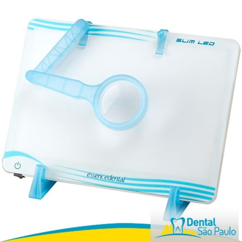 Quanto Custa Negatoscopio Odontológico com Lupa Cananéia - Negatoscopio Odontológico Slim Led Azul