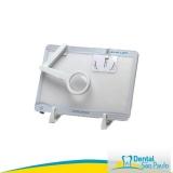 negatoscopio odontológico slim led branco